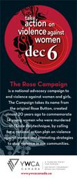 Brochure de la Campagne des roses de YWCA